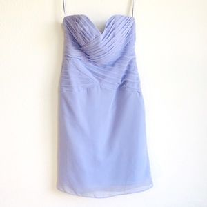 Alfred Angelo lilac strapless dress Sz 4